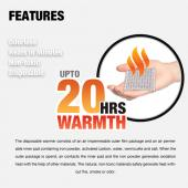 Owlheat [pocket Body Warmer - 120 Pack/120 Pieces] Disposable Self Heating Pocket Body Warmers - Up To 2400 Hours Of Total Warmth!