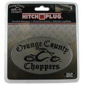 Orange County Choppers Tow Hitch Cover - Brushed Aluminum