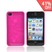 Original IvySkin Color AT&T Apple iPhone 4 Hard Reception Case w/ Screen Protectors, RC-HOTPINK - Hot Pink