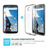 Nexus 6 Bumper Case by Ringke [Smoke] Fusion Series Shock Absorption TPU Bumper with Crystal Clear Hard Polycarbonate Back + HD Screen Protector