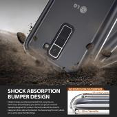 LG K10 Case, Ringke [Clear View] FUSION Series Attached Dust Cap Absorb Shock TPU Bumper Clear Case