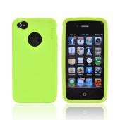 Original Rearth Apple iPhone 4S Ringke Silicone Case - Lime Green
