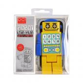 Robot USB HUB w, 4 Ports and LED Eyes (2.0 Hi-Speed) Mini USB Cable Included - Yellow