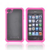 Original Ballistic AT&T/ Verizon Apple iPhone 4, iPhone 4S SG Hard Case on Silicone, SA0582-M965 - Hot Pink/ Black
