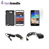 Samsung Galaxy Note Essential Bundle Package w/ Black Hard Case, Screen Protector, Car Charger, & Travel Charger