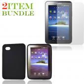 Samsung Galaxy Tab Bundle Package - Black Silicone Case & Screen Protector - (Essential Combo)