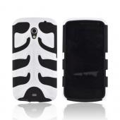 Original Nex Samsung Galaxy Nexus Rubberized Hard Fishbone on Silicone Case w/ Screen Protector, SAMI515FB21 - White/ Black