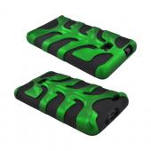 Original Nex AT&T Samsung Galaxy S2 Rubberized Hard Fishbone on Silicone Case w/ Screen Protector, SAMI777FB10 - Green/ Black