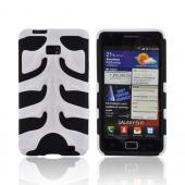 Original Nex AT&T Samsung Galaxy S2 Rubberized Hard Fishbone on Silicone Case w/ Screen Protector, SAMI777FB21 - White/ Black