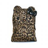 Hello Kitty Brown/ Black Leopard Nylon Backpack w/ 3D Bow