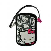 Hello Kitty in Black/ White Photobooth Universal Camera & Phone Neoprene Pouch w/ Wrist Strap