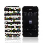 Original Hello Kitty Apple AT&T/ Verizon iPhone 4, iPhone 4S Hard Case, SANCC0047 - Hello Kitty City & Stripes