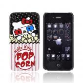Original Hello Kitty Apple AT&T/ Verizon iPhone 4, iPhone 4S Hard Case, SANCC0051 - Hello Kitty w/ 3D Glasses & Popcorn