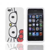 Original Hello Kitty Apple AT&T/ Verizon iPhone 4, iPhone 4S Silicone Case, SANCC0061 - Hello Kitty Face w/ Geek Glasses