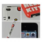 Hello Kitty in Overalls Hard Case for Apple iPod Touch 4