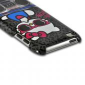 Hello Kitty w/ Leopard Print & BoomBox Hard Case for Apple iPod Touch 4