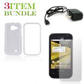 Samsung Transform Bundle Package - Clear Hard Case, Screen Protector & Travel Charger - (Essential Combo)