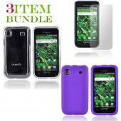 Samsung Vibrant Bundle Package - Clear Hard Case, Silicone Case & Screen Protector - (Essential Combo)
