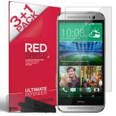 [REDShield] HTC One (M8) Screen Protectors 3 Pack + 1 Free, Crystal Clear HD Screen protector. Anti-Scratch, Easy to apply