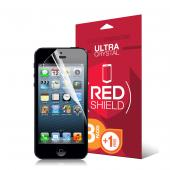 RED SHIELD Value Pack High Definition Ultra Premium 3 Pack Clear Screen Protectors + 1 Free Screen Protector for Apple iPhone 5/5C/5S
