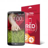 RED SHIELD Value Pack High Definition Ultra Premium 3 Pack Clear Screen Protectors + 1 Free Screen Protector for LG G2