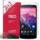 [REDShield] LG Google Nexus 5 Screen Protectors 3 Pack + 1 Free, Crystal Clear HD Screen protector. Anti-Scratch, Easy to apply