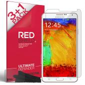 RED SHIELD Value Pack High Definition Ultra Premium 3 Pack Clear Screen Protectors + 1 Free Screen Protector for Samsung Galaxy Note 3