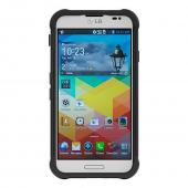 Ballistic Black Shell Gel Series Hard Back Cover Over Silicone Skin Case for LG Optimus G Pro - SG1169-A065