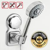 Eutuxia Universal Shower Head Holder Bracket. Removable & Reusable Suction Cup Wall Mount with Strong Adhesive. Perfect for Handheld Showerheads & Bidet Sprayers. 360 Rotatable and Height Adjustable.