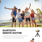 Black Wireless Bluetooth Shutter Remote - Take Selfies with Android or Apple Devices!