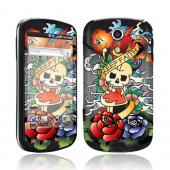 Smart Touch Skin Samsung Epic 4G Protective Skin - Skull and Koi on Black