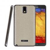 SLIMPACK Leather Back Samsung Galaxy Note 3 CASE Cream White [IVORY]