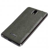 Slimpack Olive Green [KHAKI] Samsung Galaxy Note 3 leather textured battery door case