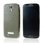 SLIMPACK Leather Back Samsung Galaxy S4 CASE Olive Green [KHAKI]