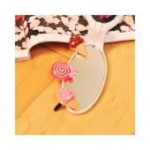 Universal 3.5mm Headphone Jack Stopple Charm - Strawberry Ice Cream w/ Bling