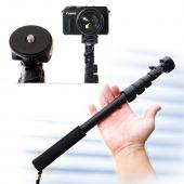 Heavy Duty Extendable Locking Anti-shake Self Portrait Monopod Selfie Stick W/ Adjustable Holder - Compatible With 1/4 Inch Screw Attachment