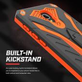 Alcatel Fierce 4 Case, STATIC Dual Layer Hard Case TPU Hybrid [Military Grade] w/ Kickstand & Shock Absorption [Black/ Orange]