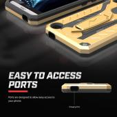 HTC Desire 530 Case, STATIC Dual Layer Hard Case TPU Hybrid [Military Grade] w/ Kickstand & Shock Absorption [Gold/ Black]