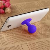 Universal Portable Cell Phone Silicone Suction Ball Stand Holder - Purple