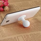 Universal Portable Cell Phone Silicone Suction Ball Stand Holder - White