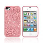 Original SwitchEasy AT&T/ Verizon Apple iPhone 4, iPhone 4S Blossom Snap-On Hard Case w/ Screen Protector, SW-BLO4S-P - Baby Pink Roses
