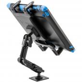 Arkon Black Tablet Mount Bundle - 8in Heavy-Duty Multi-Angle  with 4-Hole Drill Base (HD006 + TAB001)