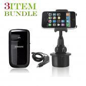 T-Mobile G2 Bundle Package - Macally Cup Holder, Car Charger & Samsung HF1000 Hands-free Bluetooth Speakerphone - (Roadster Combo)