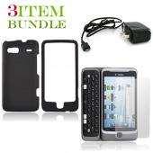 T-Mobile G2 Bundle Package - Black Hard Case, Screen Protector & Travel Charger - (Essential Combo)