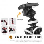 White/ Black Universal Tripod w/ Flexible Octopus Legs & Adjustable Holder - Fits Galaxy Note Size Phones!