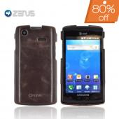 Original Zenus Samsung Captivate i897 Masstige Leather Case Bar Series - Black Chocolate