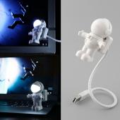 White Astronaut USB Mini LED Light Lamp