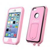 VASY Baby Pink Apple iPhone 5/5S Waterproof/ Dustproof/ Dirt Proof Protective Hard Case w/ Kickstand & Lanyard - Perfect Alternative to LifeProof!
