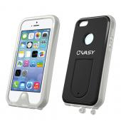 VASY Clear Apple iPhone 5/5S Waterproof/ Dustproof/ Dirt Proof Protective Hard Case w/ Kickstand & Lanyard - Perfect Alternative to LifeProof!