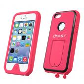 VASY Hot Pink Apple iPhone 5/5S Waterproof/ Dustproof/ Dirt Proof Protective Hard Case w/ Kickstand & Lanyard - Perfect Alternative to LifeProof!